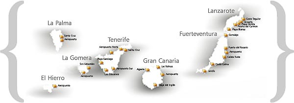 Car hire offices in Canaries