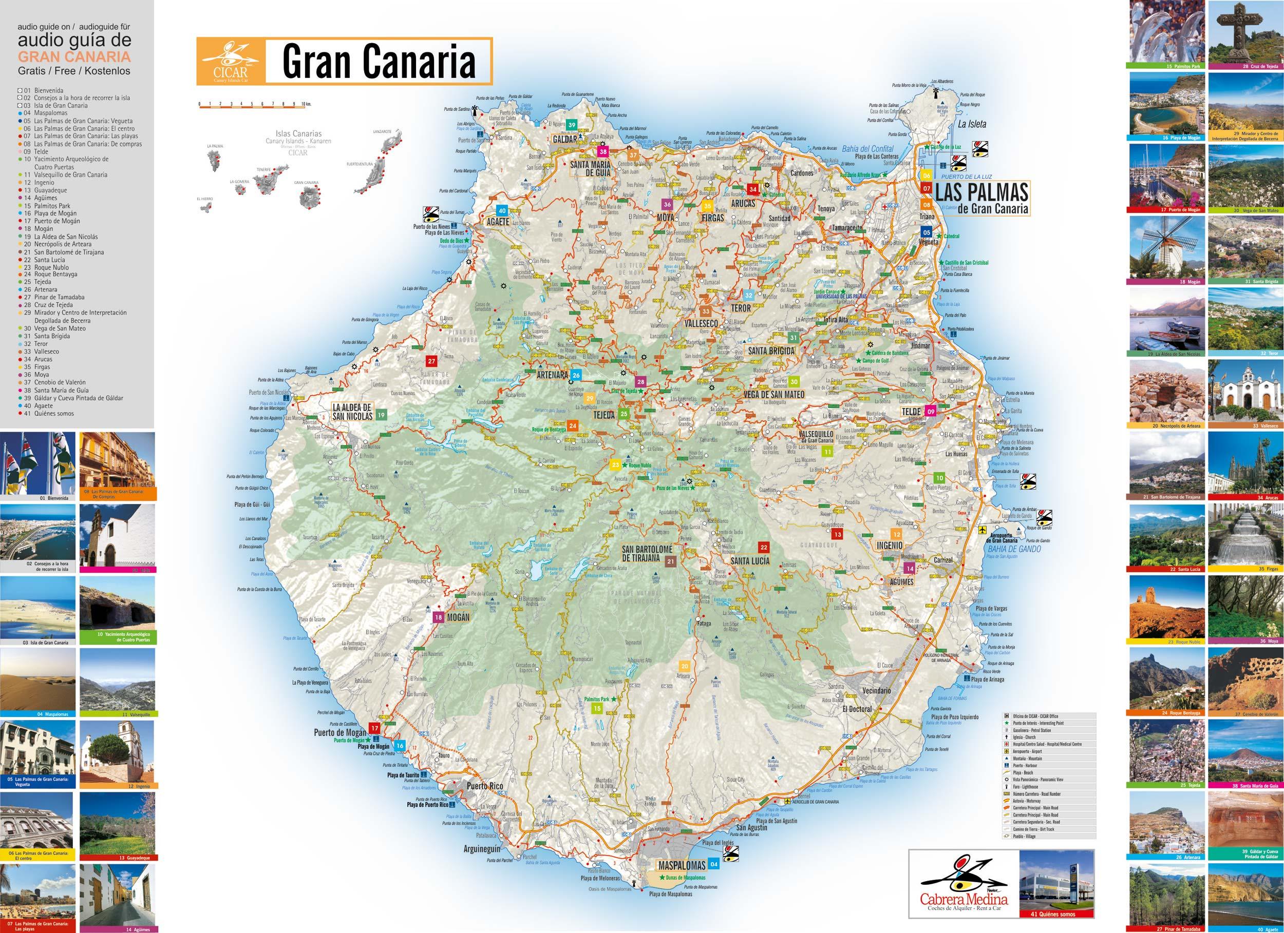 Gran Canaria Karte Flughafen.Mietwagen In Gran Canaria Autos Cabrera Medina