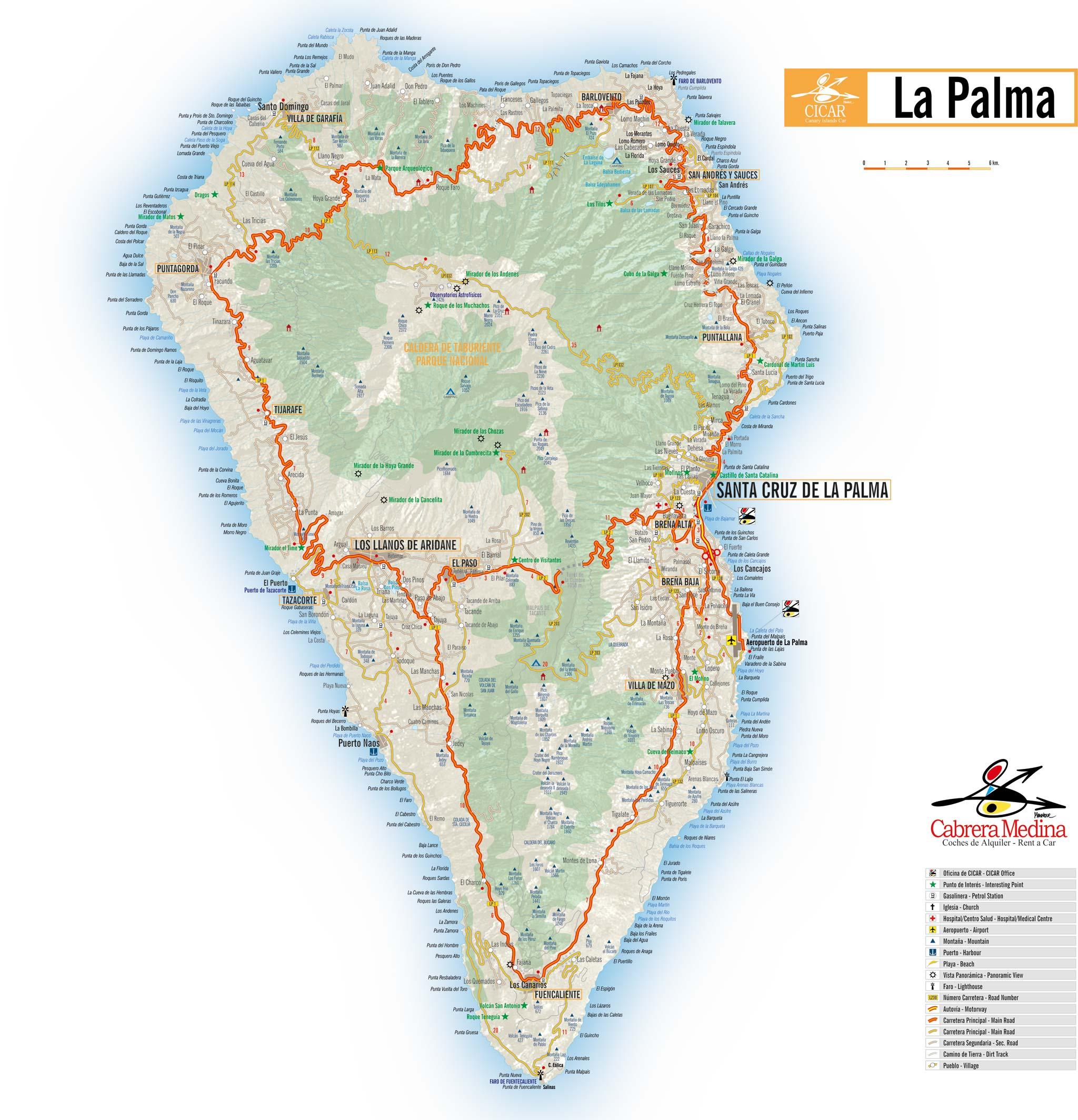 Alquiler de coches en La Palma - Autos Cabrera Medina